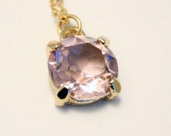 Vintage lilac glass pendant. Purple pendant