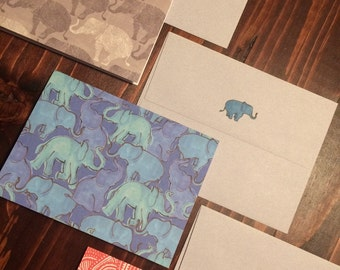 Elephant Note Cards with Envelopes 3pack