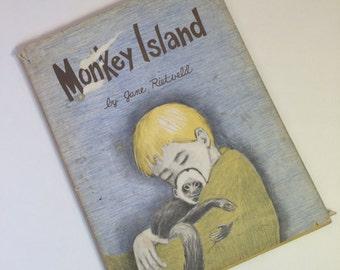 Vintage Children's Book  Monkey Island by Jane Rietveld 1963