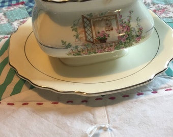 Vintage Gravy Boat Breakfast Nook Lido Canarytone W S George Made in The USA #3761