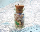 Treasure Bottle of Irish Shells Irish Sea Shells Collection in Glass Vial Beachcomber's Treasure Collected in Ireland