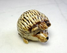 Hedge Hog Miniature - Fairy Garden Animal - Terrarium Miniature - Pottery Animals - Hedge Hog Sculpture - Clay Animal - Ceramic Hedgehog