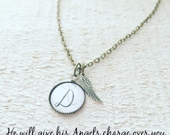 Intial Angel Necklace