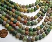 Indian agate 8mm - Matte -  full strand - 49 beads per strand - AA quality - RFG996