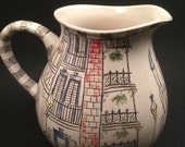 New Orleans Architecture Inspired Pitcher