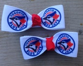 Toronto Blue Jays Hair Bows - No Slip Grips