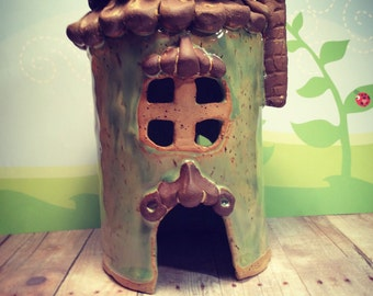 Fairy Garden House ceramic Pottery Handmade