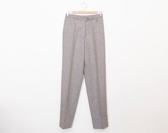 NOS Vintage 80's grey pants trousers  size S M