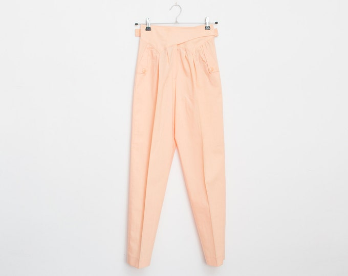 NOS Vintage 90's pink pants high waist trousers