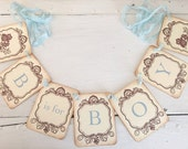B is for Boy Banner Owl Garland Baby Shower Decoration Photo Prop