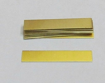 1/4 x 2 - 1/4 Brass rectangles blanks -ring blanks - hand stamping blanks -metal blanks -stamping blanks - hand stamping supplies