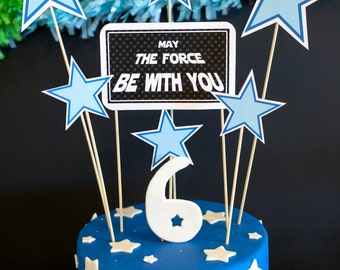 Star Wars Theme Printable Cake Topper Decor - Instant Download - Petite Party Studio