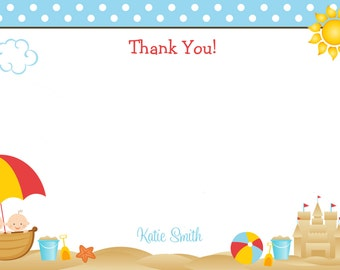 Beach baby shower thank you note  - thank you note