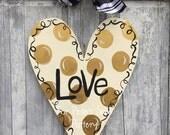 Gold Valentine's Day / Heart door hanger
