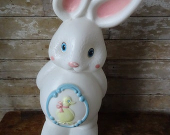 Vintage Easter Bunny Blow Mold Rare Find