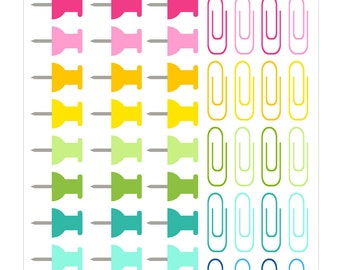 67 Push Pin Planner Stickers, Perfect for Erin Condren, Limelife, Plum Paper, the happy planner or Filofax Planner