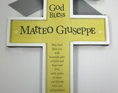Holy Cross Baptism Christianity to Honor a Birth, Christening , Baptism, Wedding  God Bless, 1st Communion approx 7 x 9 inches