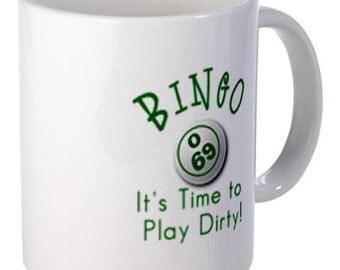 Time To Play BINGO Fan 11oz Ceramic Coffee Cup Mug