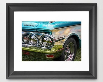Wall Decor Photograph Comet Classic Vintage Car