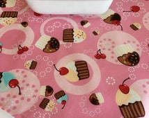 Birthday Table Runner | Birthday Centerpiece | Birthday Tablescape | Decor | Birthday Decor | Pink Birthday | Decorations | Napkins Cupcake