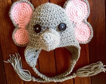 Baby Elephant hat CROCHET PATTERN, Baby Elephant Hat, Crochet Pattern, Crochet Hat Pattern, Animal Hat Crochet Pattern, Ellie The Elephant