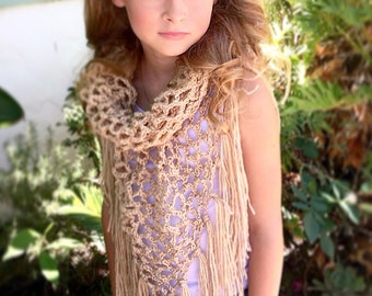 Mesh Shawl Crochet Pattern, Summer Shawl Pattern, Net Shawl Pattern, Crochet Pattern, Fringe Scarf Pattern, Adalynne Summer Shawl Pattern