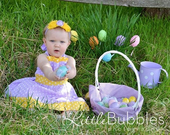 Custom Boutique Easter Halter Back Dress 12 Months to 6 Years