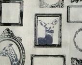 Etsuko Furuya Frame natural Decoro Kokka Fabrics FQ or more