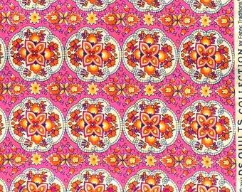 SALE : Picadilly medallion pink DS Quilts Denyse Schmidt fabric  FQ or more