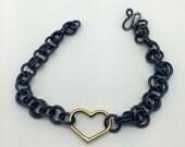 14k Gold Heart Bracelet