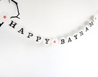 Happy BAYRAM  banner // festive garland for the celebrations season, photo prop, decoration renna deluxe