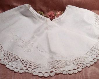 Antique Lace Edwardian Cotton Lace Collar Craft Supply