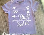 Big Sister Arrow Shirt Big Sister tshirt heart arrow big sister hipster shirt pregnancy announcement shirt big sister arrow and heart shirt