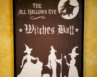 Witches Ball Wall Plaque