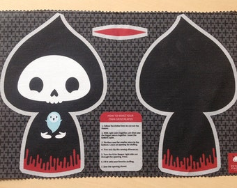Cut and Sew Fabric Panel : Grim Reaper Toy