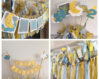 First Birthday Decorations - 1 st Birthday Party - Baby Fabric Banner - First Birthday Party - Birthday Party Package - Baby Decor