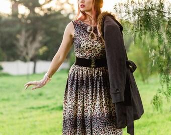 Rockabilly Leopard Dress