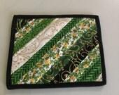 St Patrick's Shamrock Spring Quilted Mug Rug Candle Mat