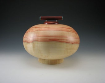 Red Box Elder - Cremation Urn - Pet Urn - Wood Vessel
