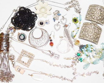 Vintage Destash Jewelry lot Pins Bracelets Rhinestones and more