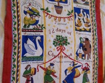 12 days of christmas irish linen