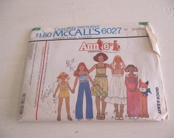 mccalls 6027 annie's size ex-sm pattern