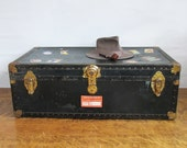 """Mid Century Steamer Trunk """"Great for Coffee Table, Storage, Decorating"""""""