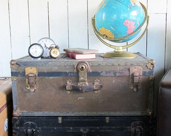 1930s-40s Steamer Trunk with Loads of Vintage Character