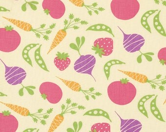 Free Spirit David Walker Garden Lilac Veggies Fabric - 1 yard