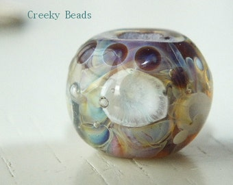 """Handmade Large holed lampwork bead """"By the Pond"""" Creeky Beads SRA"""
