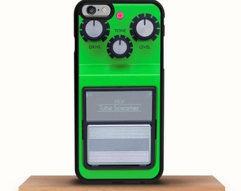 iPhone 7/7 Plus Case, iPhone 6/6S Case, iPhone 6S Plus Case, Guitar Music, iPhone 5/5S Case, iPhone SE Case Guitar Pedal Green iPhone Case