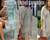 Crochet Cardigan Pattern - Crochet Top Pattern - Boho Crochet - Boho Cardigan by GuChet -  Spring Crochet - Crochet Vest - Easy Crochet