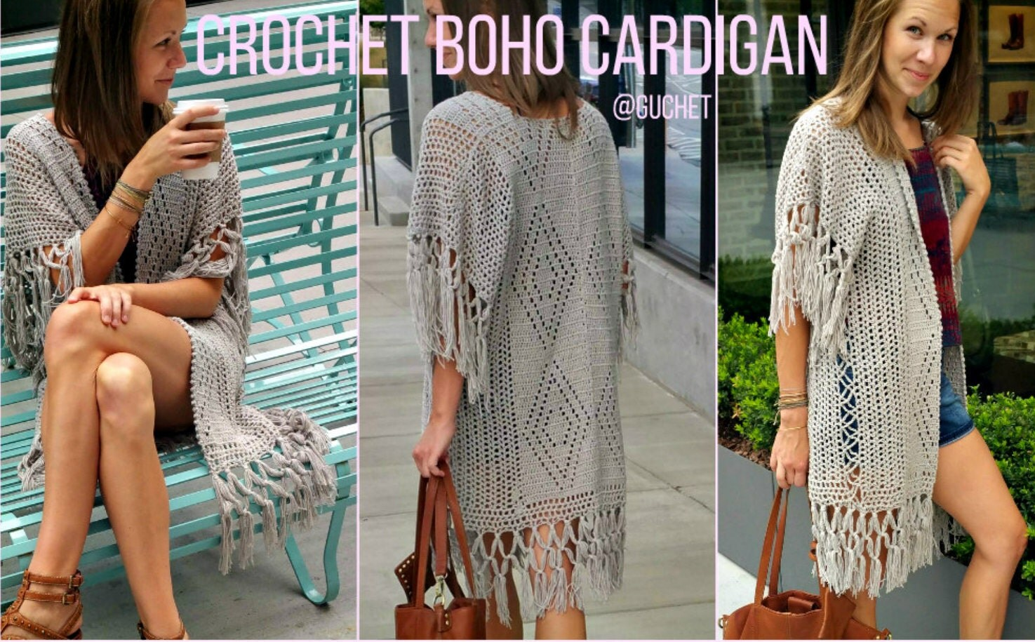 Crochet Cardigan Pattern  Crochet Top Pattern  Plus Size Crochet Boho  Cardigan Spring Crochet