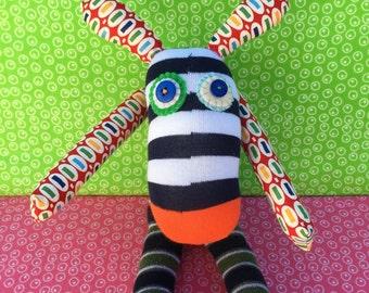 OOAK handmade recycled stuffed animal bunny rabbit boris